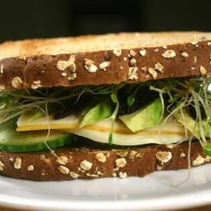 Three-Cheese Veggie Sandwich