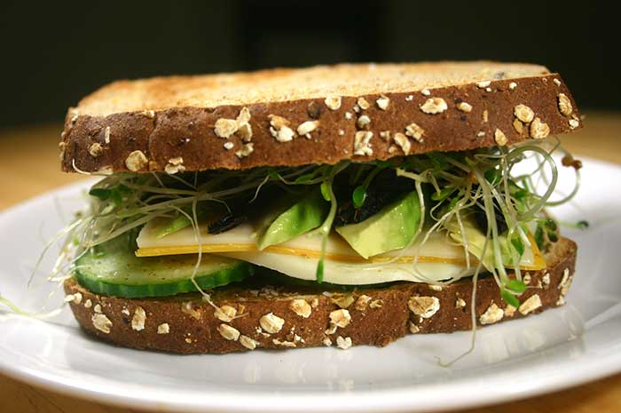Three-Cheese Veggie Sandwich