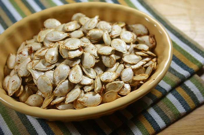 Curried Squash Seeds (or Pumpkin)