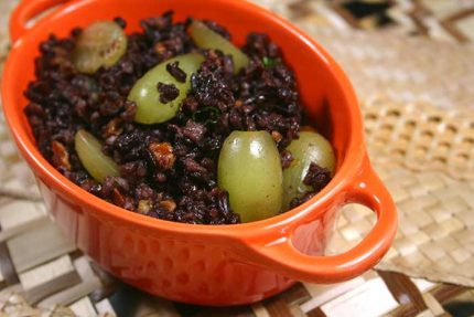 Orange Pecan Black Rice for #SundaySupper