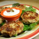 Black-eyed Pea Corn Cakes with Spicy Sour Cream