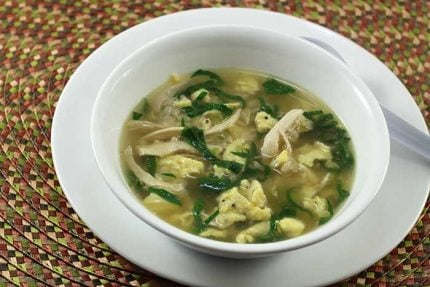 Quick Chinese Chicken and Rice Soup
