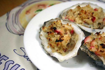Baked Oysters and Apples
