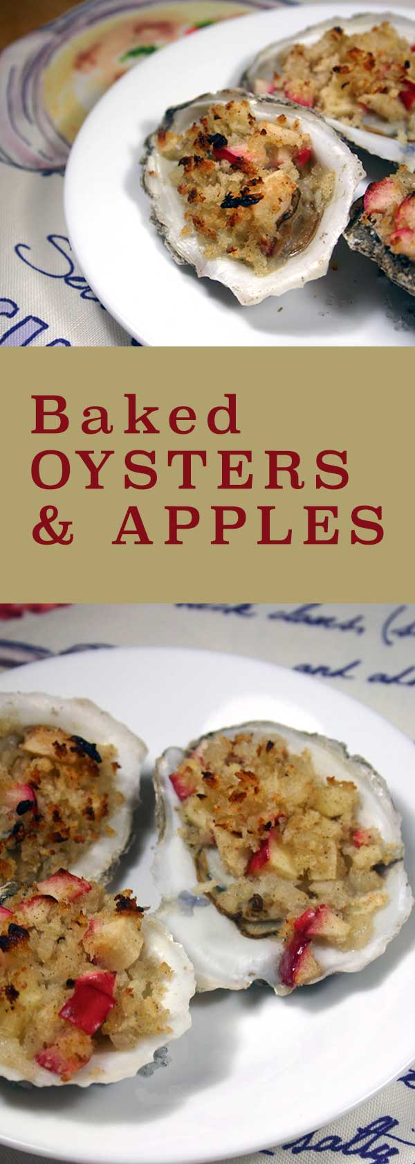 Baked Oysters & Apples | diabeticfoodie.com