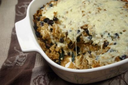 Black Bean and Brown Rice Casserole