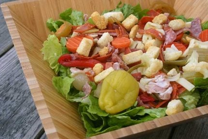 Italian Sub Salad for #SundaySupper