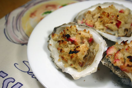 Baked Oysters and Apples from Pescetarian Journal