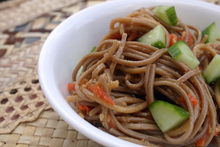 Soba Noodle with Roasted Eggplant
