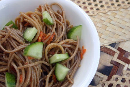 Soba Noodles with Roasted Eggplant