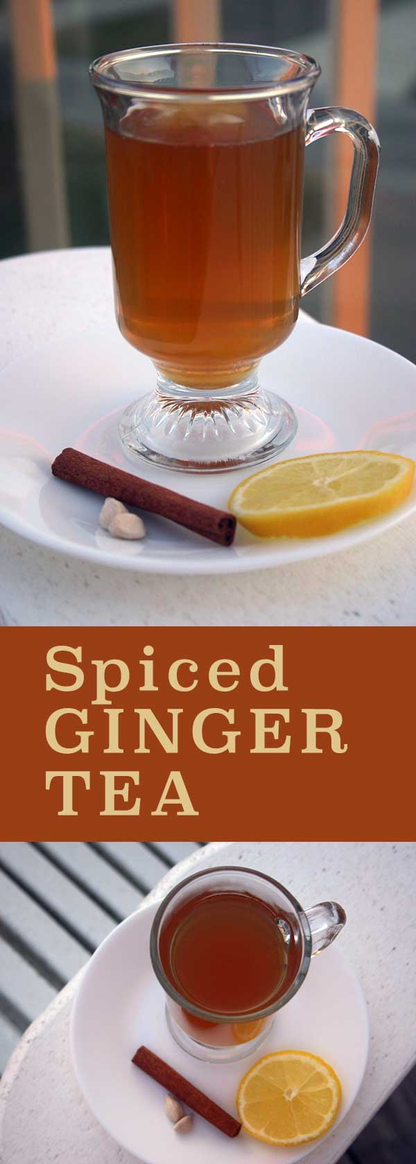 Spiced Ginger Tea - great for digestion | diabeticfoodie.com