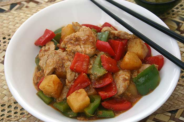 Sweet and Sour Pork (lower sodium, gluten-free)