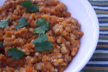 Couscous with Chickpeas and Sweet Potatoes