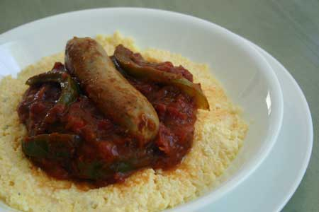 Italian Turkey Sausage with Polenta