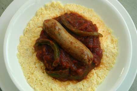 Italian Turkey Sausage with Polenta