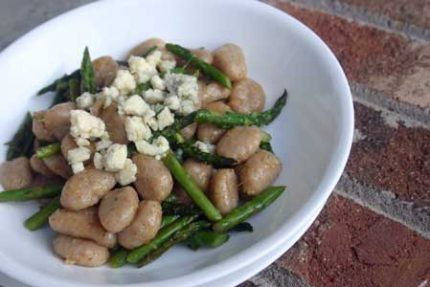 Gnocchi with Asparagus and Gorgonzola