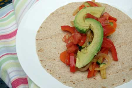Vegetable Burrito with Finger Limes