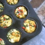 Breakfast Stuffins with Spinach, Peppers, and Cheese