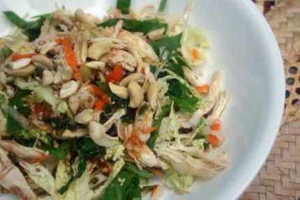 Asian Chicken and Kohlrabi-Cabbage Salad