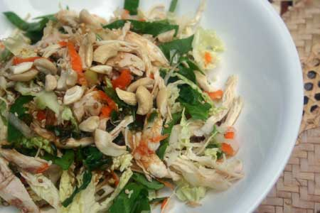 Asian Chicken and Kohlrabi Cabbage Salad