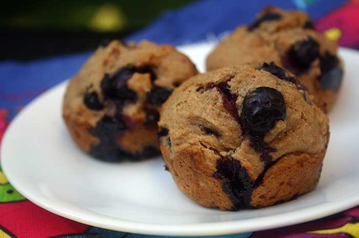 Blueberry Muffins with Coconut Oil