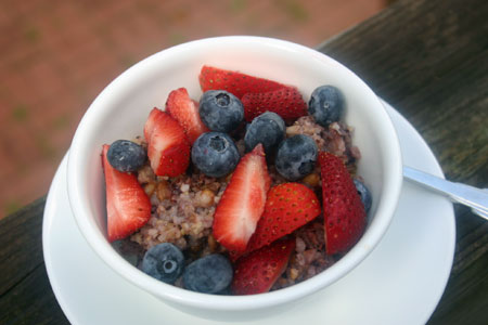 Overnight Porridge (Slow Cooker) with whole grains
