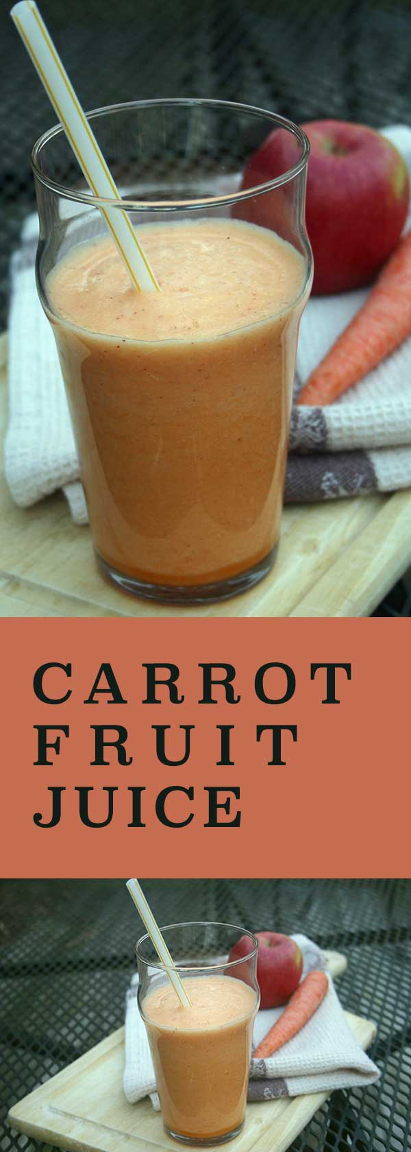 Carrot Fruit Juice - apple, pineapple, and orange flavors | diabeticfoodie.com