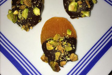 Dark Chocolate Pistachio Apricots