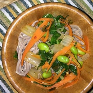 Soba Noodles with Edamame and Bok Choy