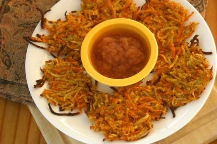 Baked Sweet Potato Parsnip Latkes
