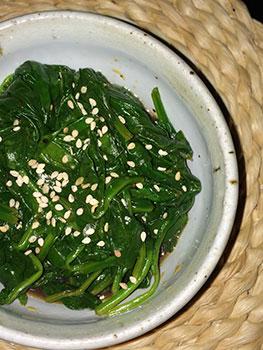 Szechuan Spinach