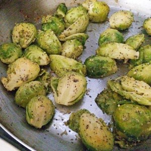 Brussels Sprouts with Poppy Seeds and Lemon