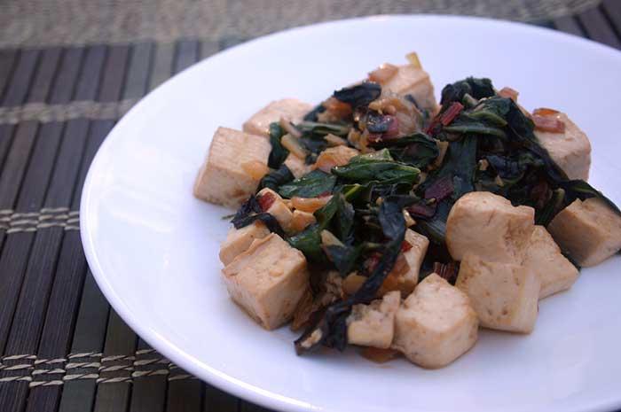 Tofu Scramble with Swiss Chard