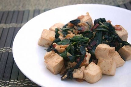 Tofu Scramble with Swiss Chard