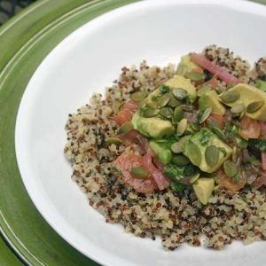Quinoa Salad with Avocado and Grapefruit