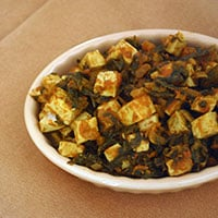 Indian Spinach Curry (Palak Paneer) - Vegan, Gluten-free