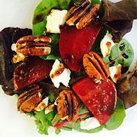 Blackberry Ginger Beet Salad with Pecans