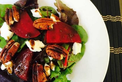 Blackberry Ginger Beet Salad with Pecans