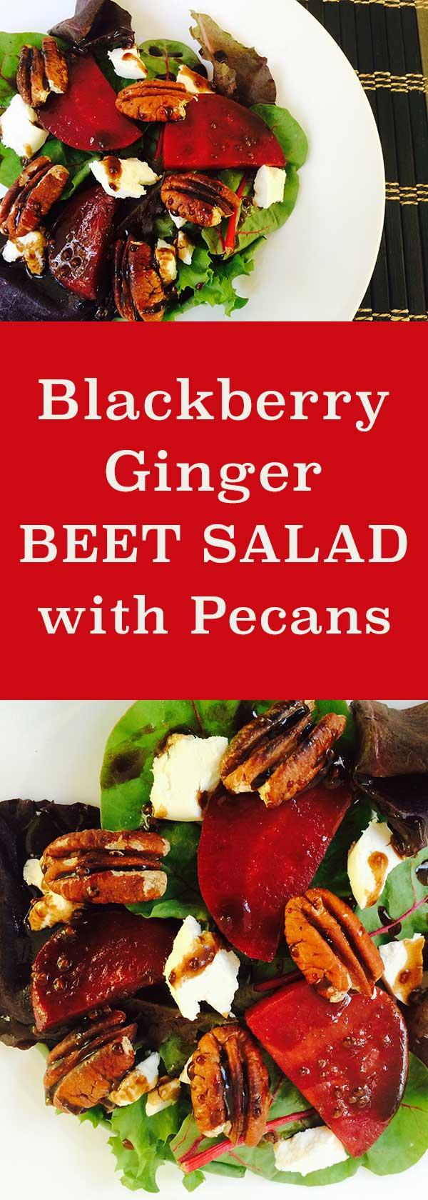 Blackberry Ginger Beet Salad with Pecans | diabeticfoodie.com