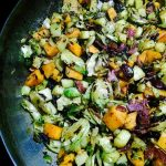 Sweet Potato, Brussels Sprouts, and Apple Hash