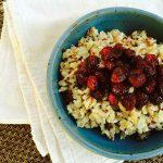 Roasted Cranberry Quinoa Oatmeal