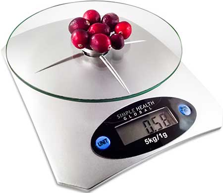 Simple Health Global digital food scale