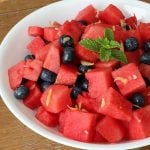 Easy Blueberry Watermelon Salad