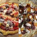 2 types of Cauliflower Pizza