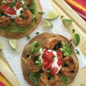 Shrimp Avocado Tostada