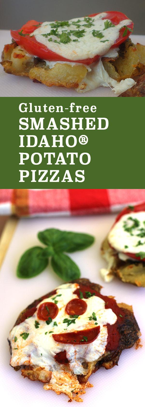 Gluten-free Smashed Idaho Potato Pizzas - perfect for back to school   diabeticfoodie.com