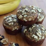 Banana Oat Chocolate Walnut Muffins