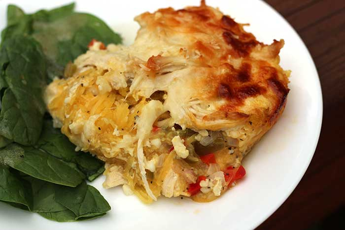 White Chicken Lasagna with Spaghetti Squash