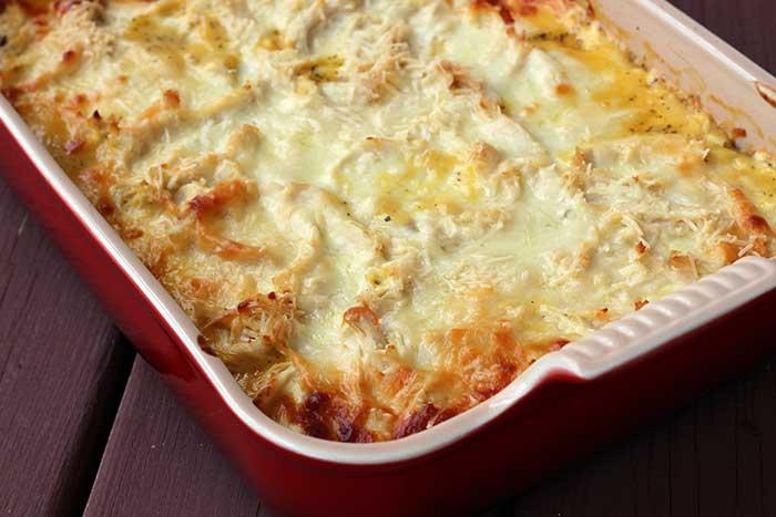 White Chicken Lasagna with Spaghetti Squash