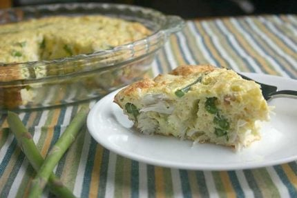 Crustless Crab Quiche with Asparagus for Pi Day