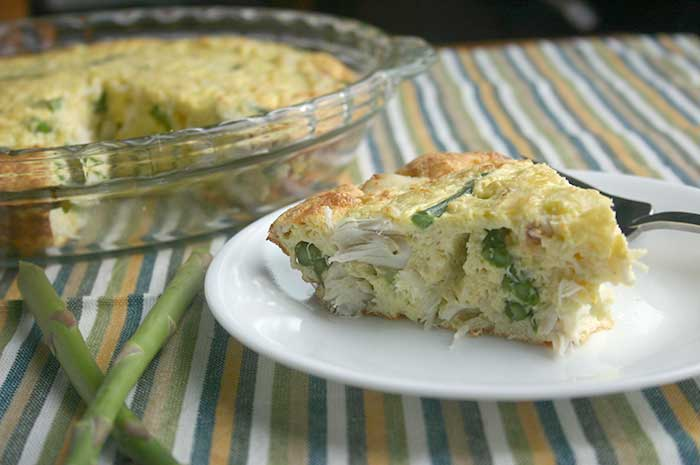 Crustless Crab Quiche with Asparagus